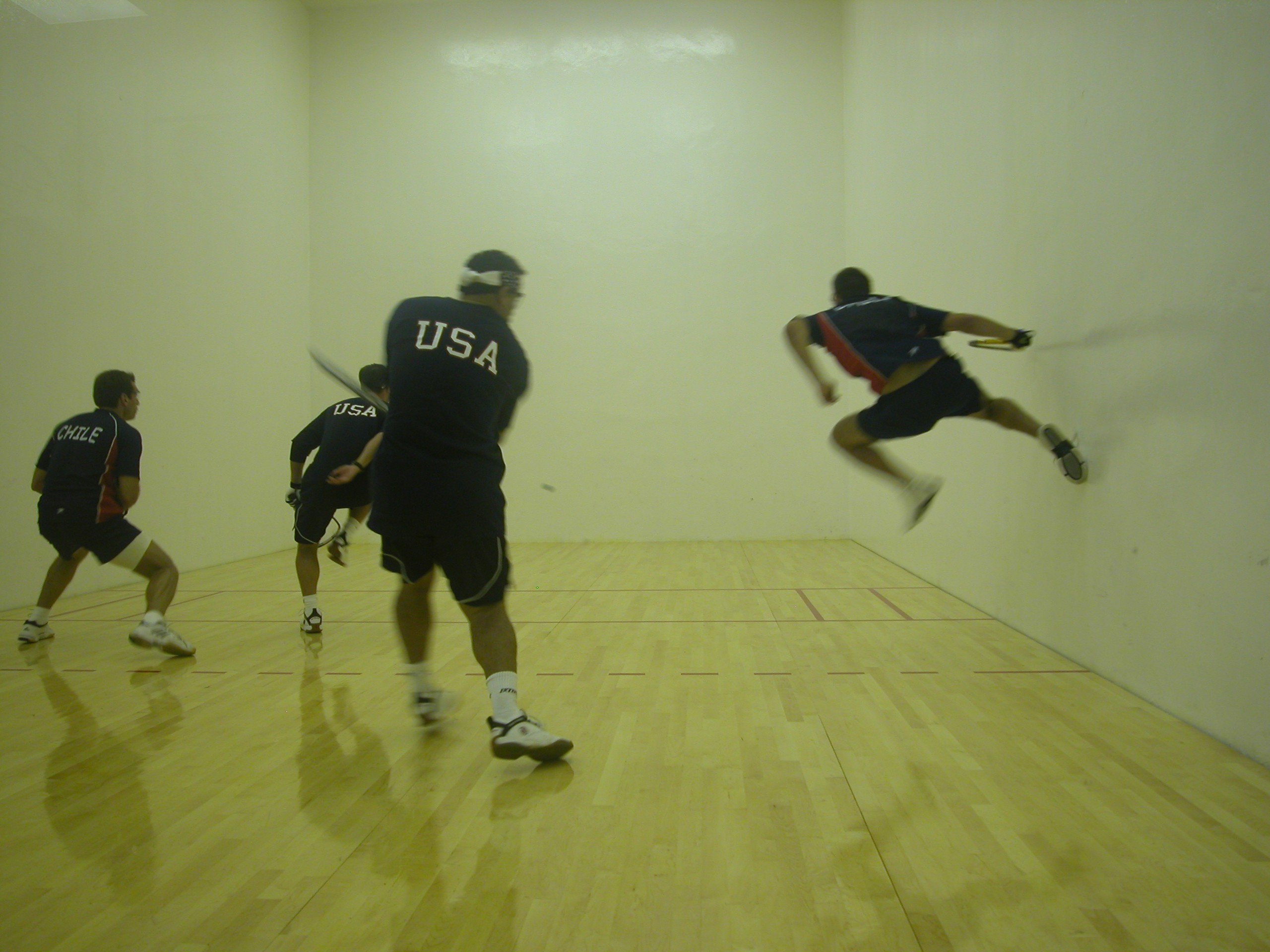 early racquet preparation when playing racquetball Photos – iconic  the racquetball physician to all the early pros brumfield is in the center, and then muehleisen, and an 'a' badminton and racquet player .